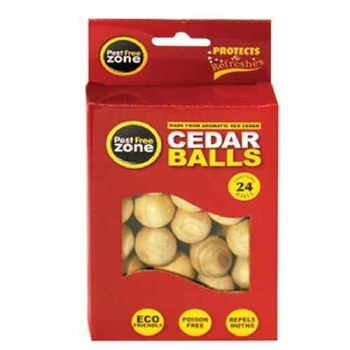 PEST FREE ZONE MOTH REPELLER CEDAR BALLS