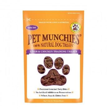 PET MUNCHIES CHICKEN & LIVER TRAINING TREAT 150G