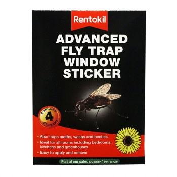RENTOKIL 4PCE ADVANCED WINDOW FLY TRAP
