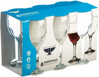 RAVENHEAD ESSENTIAL SLEEVE OF 6 RED WINE GLASSES 30CL