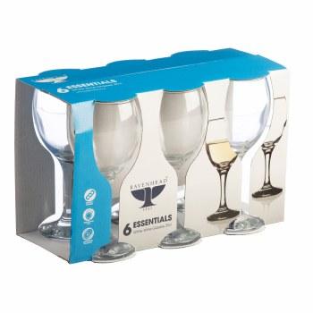 RAVENHEAD ESSENTIAL SLEEVE OF 6 WHITE WINE GLASSES 25CL