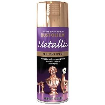 Rust-oleum Brilliant Metallic Copper Spray Paint - 400ml