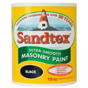 SANDTEX SMOOTH BLACK 1 LITRE