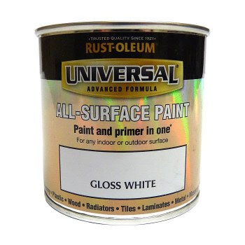 Rust-Oleum Gloss Finish Universal Metal and All-Surface Paint – GLOSS WHITE 250ML