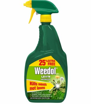 WEEDOL GUN LAWN WEEDKILLER READY TO USE 800ML PLUS 25% EXTRA FREE