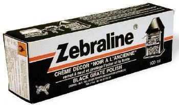 ZEBRALINE BLACK GRATE POLISH 100ML