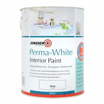 ZINSSER PRIMA WHITE INTERIOR PAINT SATIN 2.5LTR