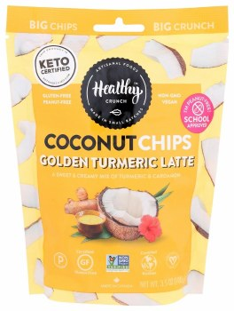 Golden Turmeric Coconut Chips