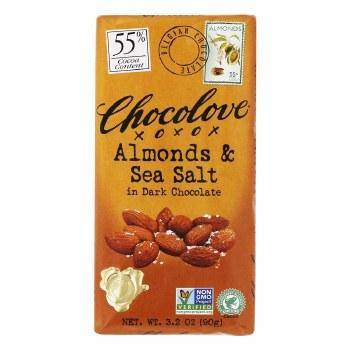 Almond Sea Salt Dark Choc.