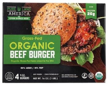 Organic Grass Fed Beef Burgers