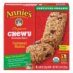 Chewy Oatmeal Raisin Bars