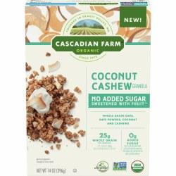 Coconut Cashew Granola, Organic, No Sugar Added