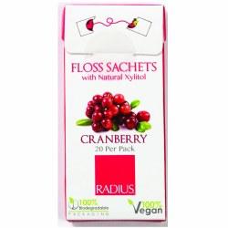 Cranberry Floss Sachets Travel Pack, Vegan
