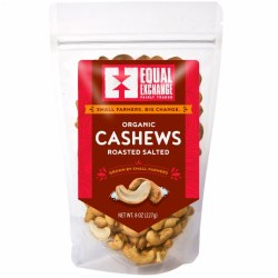 Organic Fair Trade Roasted Salted Cashews