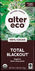 100% Cacao Total Blackout Chocolate Bar, Organic