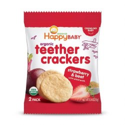 Organic Teether Crackers, Strawberry
