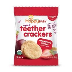 Organic Teether Crackers, Strawberry