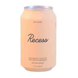 Infused Peach Ginger Sparkling Water