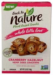 Cranberry Hazelnut Hemp Crackers