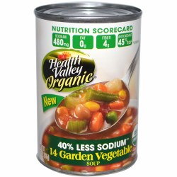 Org Vegetable Soup, Low Sodium