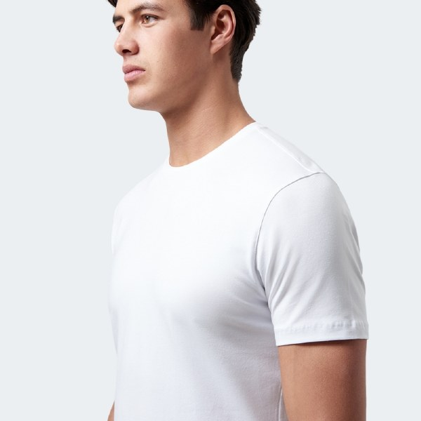 Tapered Cotton Stretch Tee