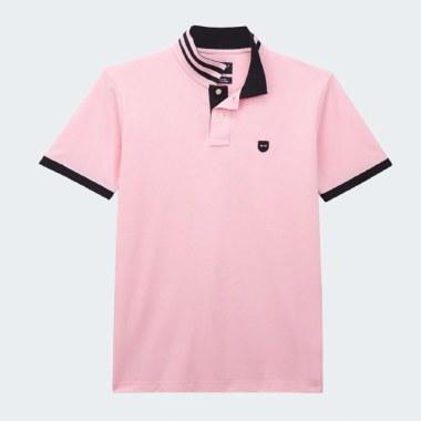 Pique Contrast Collar Polo