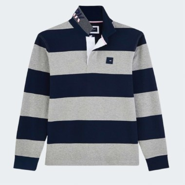 Contrast Stripe Rugby Shirt
