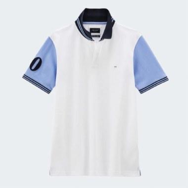 Cotton Contrast Sleeve Polo