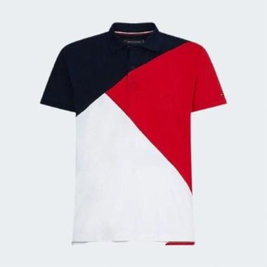 Diagonal Colourblock Polo