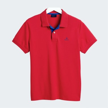 Contrast Collar Rugger Polo