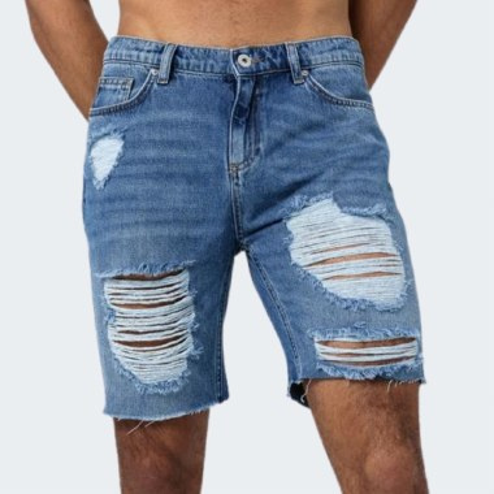 Essential Denim Distressed Shorts