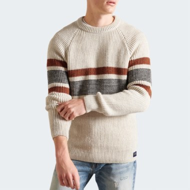 Classic Pattern Crew Knit