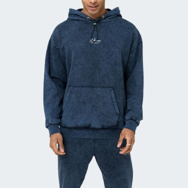 Washed Box-Fit Hoodie