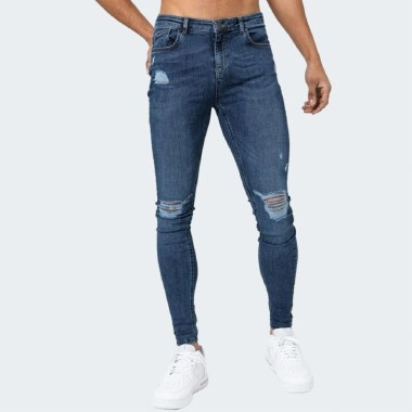 Ripped & Repaired Spray-On Skinny Jeans