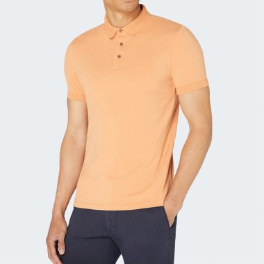 Tapered Cotton Stretch Polo