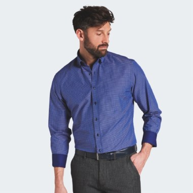 Modern Fit Mini-Check Shirt