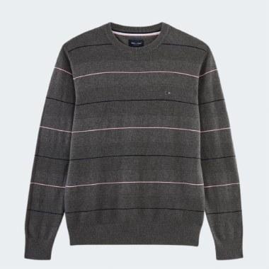 Crew-Neck Stripe Knit