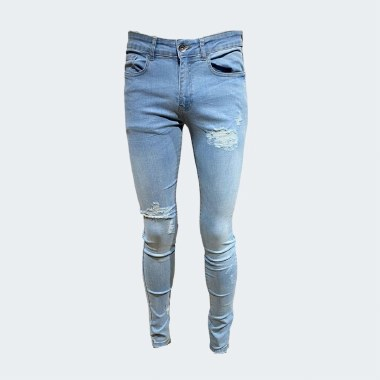 Venice Faded Ripped Skinny-Stretch Jeans