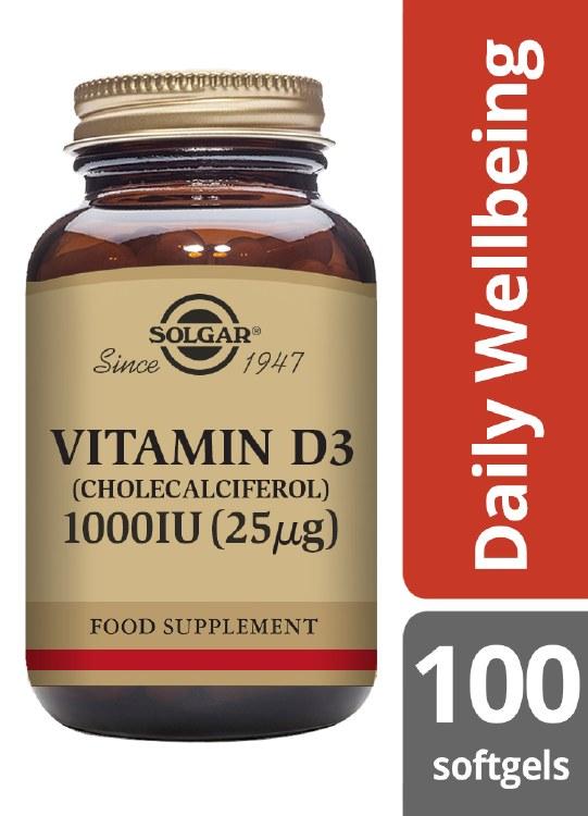 Vitamin D3 1000 IU (25 g) Soft