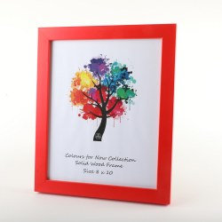 COLOURS 8X10 RED FRAME