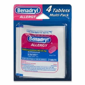 Benadryl Allegy 4 Tablets