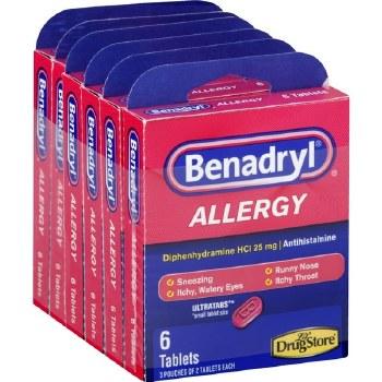 Benadryl Allergy 6 Tablets