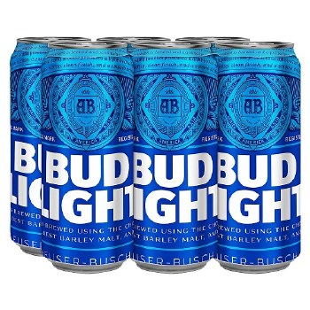 Budlight 6 Pack Cans
