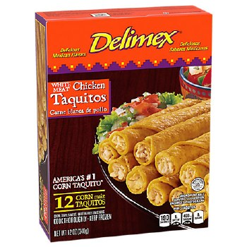 Delimex Chk Taquitos 12oz