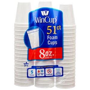 Wincup 8oz Foam Cup