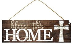 """BLESS THIS HOME SIGN 15"""" X 5"""""""