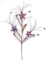 STAR SPRAY X 3, RED/WHT/BLUE