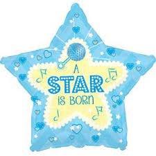 BALLOONS MYLAR X 5 STAR BORN
