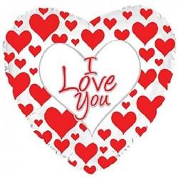 BALLOONS MYLAR X 5 I LOVE YOU