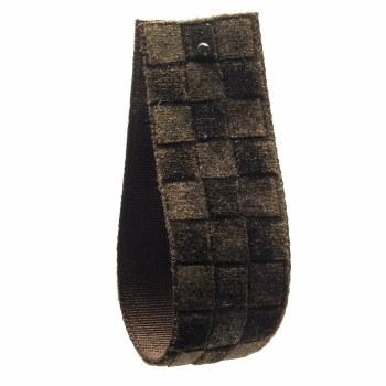 Dark Bark Checked Velvet Ribbon 16 mm